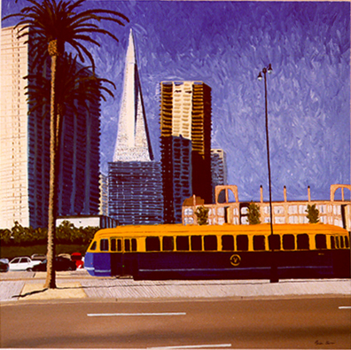 """Streetcar with Buildings"" 54""X54"""